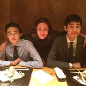 RIKACOさん&息子さん2人