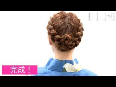 【how to hair style】裏編み込みがキュートなアップヘア For ミディアムヘア - YouTube